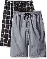 Hanes Men's 2-Pack Woven Pajama Short, Black, 3X-Large