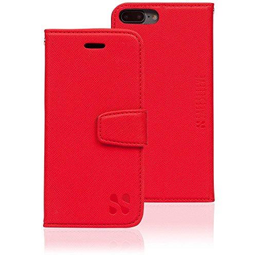 SafeSleeve - Custodia per iPhone 8 Plus, iPhone 7 Plus e iPhone 6 Plus, ELF e RF per bloccare il furto di identità, colore: Rosso