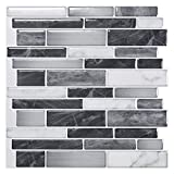 Art3d 10-Sheet Self-Adhesive Tile Backsplash for Kitchen, Vinyl Decorative Tiles, 12'x12'
