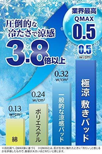 極涼敷きパッド接触冷感QMAX0.5涼感3.8倍冷たいtobest吸水速乾丸洗い(シングル)