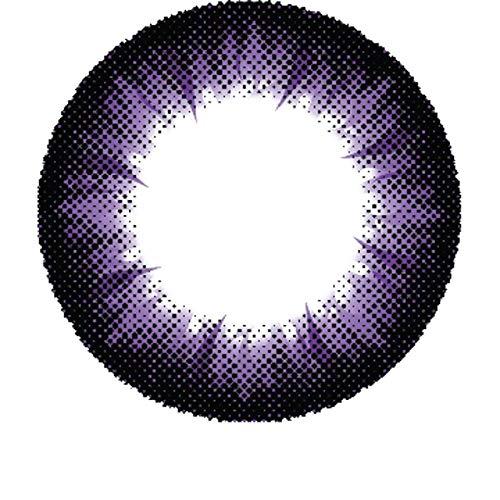Matlens - Pro Trend Farbige Kontaktlinsen mit Stärke lila violet Big eyes Apollo NPX-A05 2 Linsen 1 Kontaktlinsenbehälter 1 Pflegemittel 50ml