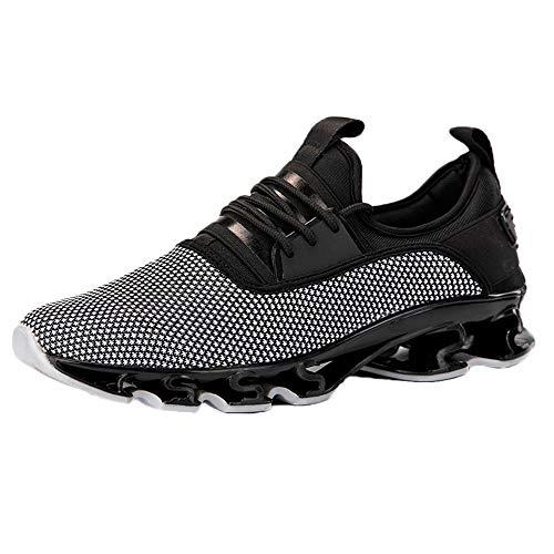 Homme Chaussures de Sport Sneakers de Randonnée Basses Imperméable Lacées Plates Respirant Anti-Dérapant Sneakers de Formation de Voyage pour La Marche Escalade Trekking