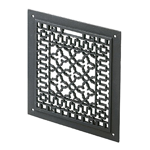 Minuteman International Cast Iron Floor Grate Grille, Black