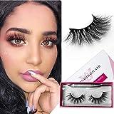 SWINGINGHAIR Mink Eyelashes, 20mm Mink Lashes, 3D Mink Lashes Natural False Eyelashes Natural Look Fake Eyelashes Fluffy 3d Lashes for Women,1 Pair|Joy
