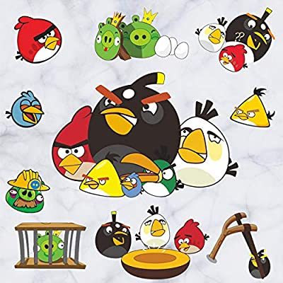 GADFLY Children, Kids, Baby, Nursery's Peal and Stick Wall Decals Stickers (Angry Birds)