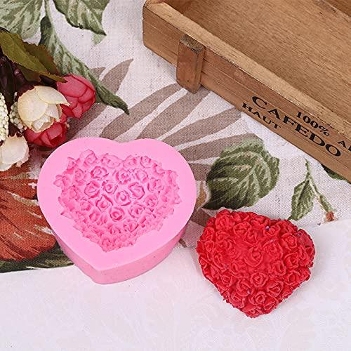 ZIYING Molde de Torta Encantador corazón Molde de Silicona Flor DIY Forma FAGUETE Fabricación 3D Herramienta de Molde de la Torta de decoración Hecha a Mano