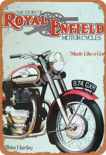 The Story Of Royal Enfield Motorcycles 874 Gxr Cartel de chapa de metal pintado decoración de pared moderna sala de juegos reglas de la casa arte
