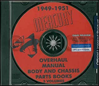 1949 1950 1951 MERCURY REPAIR SHOP & SERVICE MANUAL & BODY SHOP MANUAL CD INCLUDES: Custom Series and Monterey Series 49 50 51