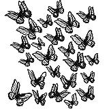 20 Apliques de Mariposa de Encaje de 2 Tamaños Parches de Mariposa de Bordado...