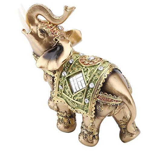 Estatua Elefante Verde Suerte decoración