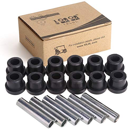 10L0L Bushing and Sleeve Kit for Club Car DS and EZGO TXT 1994-UP, Golf Cart Front or Rear Leaf Spring & Front Upper A Arm Suspension fit Club Car DS Models Gas & Electric 1981 + UP