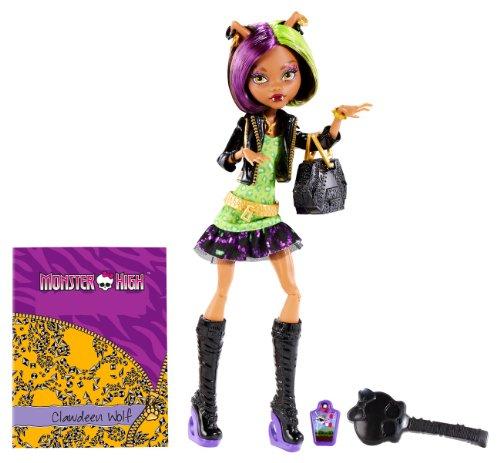Mattel BGT38 - Monster High New Scare-mester Clawdeen, Puppe mit Zubehör