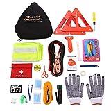 24 in 1 Roadside Assistance Auto Emergency Kit, Multifunctional Breakdown Tool Kits First