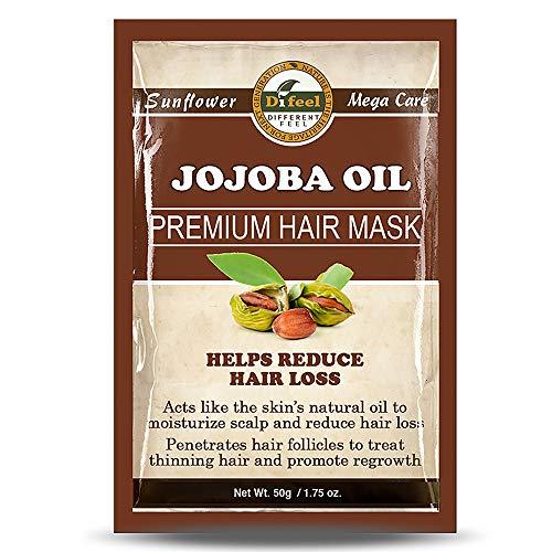 Difeel Premium Deep Conditioning Hair Mask - Jojoba Oil, Moisturizes Scalp, Helps Reduce Hair Loss, Stimulates Thinning Hair, Promotes Hair Growth 1.75 oz.