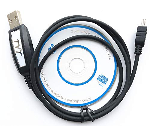 TYT Original USB Programming Cable & Software CD for TH-2R, TH-UV3R, TH-7800, TH-9800 TH-8600 Mobile Radio Transceiver