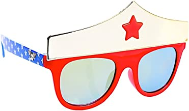 Sun-Staches Costume Sunglasses Lil' Characters Wonder Woman Crown Party Favors UV400