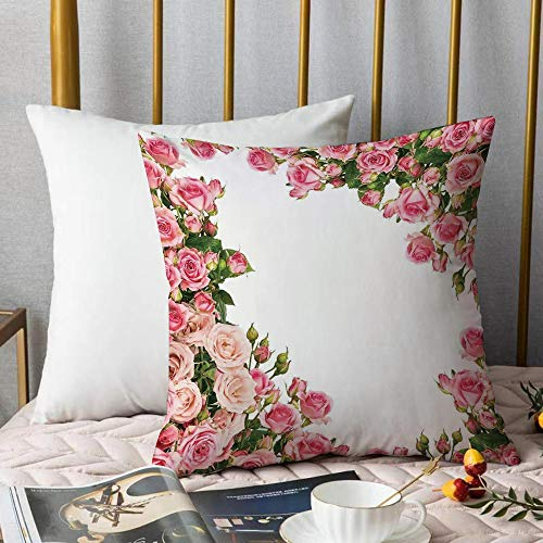 Bedding Fundas de Almohada ,Decoraciones de rosas, marco de rosales ro