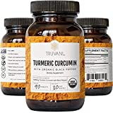 TRUVANI Organic Turmeric Curcumin (1,350mg) | Turmeric Root Powder - with Black Pepper for Improved Absorption | Anti-Inflammatory, Joint Support & Stress Relief Supplement | 30 Servings