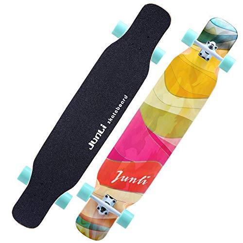 Sports Equipment Roller mit Vier Rädern, männliche und weibliche Erwachsene Skateboardbürste Street Dance Longboard, Skateboard Longboard geeignet für Jugendliche, Erwachsene ZDDAB