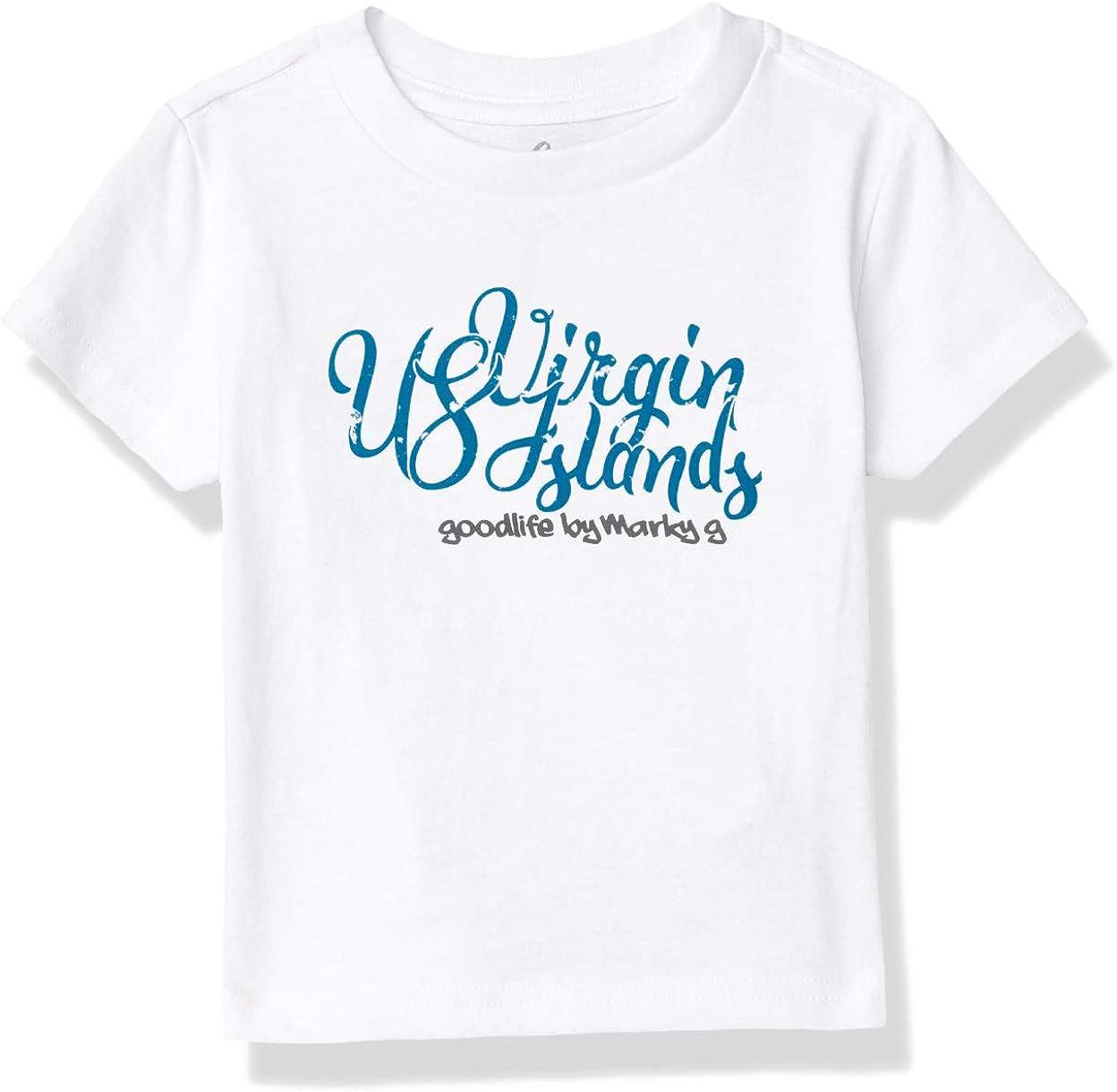 Marky G Apparel Boys' Printed U.s. Virgin Islands Graphic Cotton Jersey T-Shirt