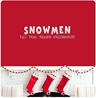 Snowmen Fall from Heaven Unassembled Wall Decal Sticker Winter Frosty Merry Christmas Season's Greetings Happy Holidays Sign Door Art Color Choices