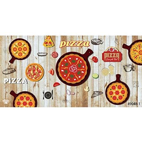 Cczxfcc Gepersonaliseerde grootte foto 3D hout krijtbord tapijt pizza tent snack bar restaurant Hamburger tenten papierbehang 400 cm.
