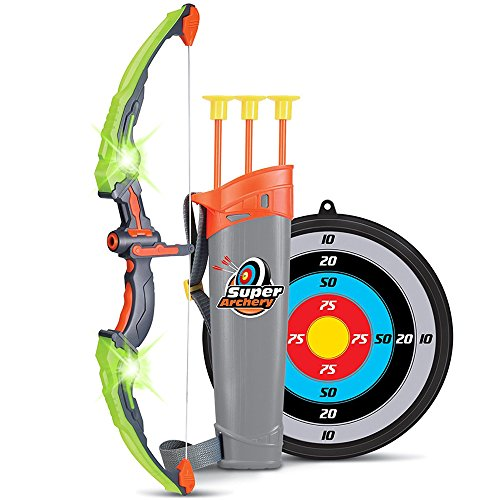 Pouncheon Archery Toy, Bow and Arrow Set, Christmas Gift, Boys Toy, Popular, Elementary School Students, Girls, Children's Day, Athletic Toy, Gift, Birthday (Green)