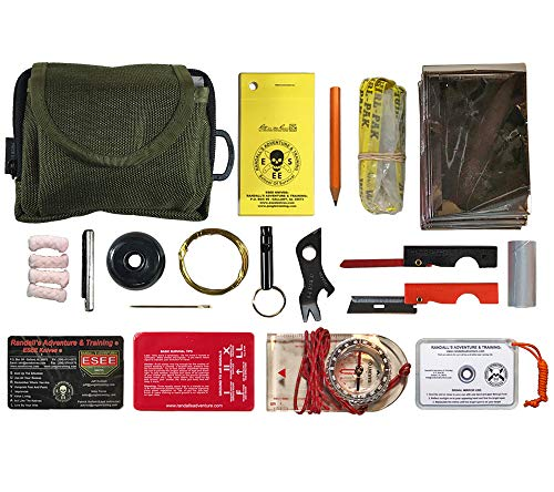 Esee Knives, Pocket Survival Kit, with Olive Drab Pouch, Size: 5.0' x 3.75' x 1.5'