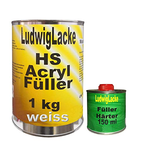 Acrylfüller 1x 1,15 kg Weiss Grundierung Rostschutz für Autolack