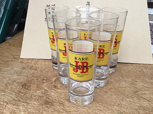 6 glazen lange buizen JB Whisky