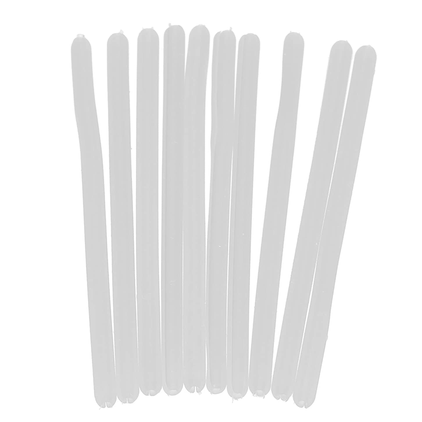 セクタに賛成雪だるまSONONIA シリコン メガネ テンプルチューブ ソフト 快適 保護 眼鏡修理用 交換可能 10本入り 全2色 - 白