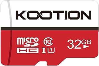 KOOTION microSDカード 32GB 二 Nintendo Switch 動作確認済 Class10 UHS-I メモリカード SDHC マイクロSDカード 超高速転送 スマートフォン ドライブレコーダー デジカメ ターブレッド PC 対応