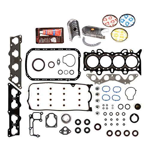 Evergreen Engine Rering Kit FSBRR4038EVE Compatible With 01-05 Honda Civic 1.7 SOHC D17A1 Full Gasket Set, Standard Size Main Rod Bearings, Standard Size Piston Rings