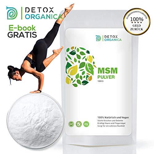 Detox Organica MSM poeder 1 kg // 99,9% puur incl e-book // in Duitsland gemaakt - getest in laboratorium // zonder gentechniek - zonder additieven - veganistisch