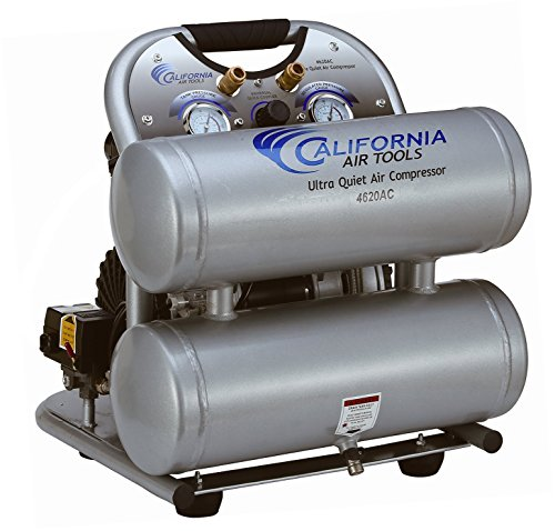 California Air Tools CAT-4620AC-22060 Ultra Quiet & Oil-Free 2.0 hp 4.0 gallon Aluminum Twin Tank...