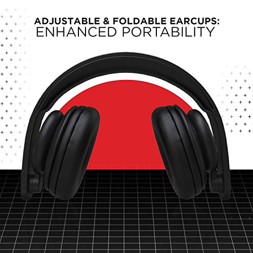 boAt Rockerz 450 Pro On-Ear Headphones with 70 Hours Battery, 40mm Drivers, Bluetooth V5.0 Padded Ear Cushions, Easy Access Controls and Voice Assistant(Luscious Black)