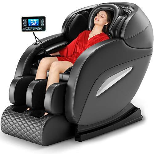 ZHANG 2020 Massagesessel Zero-Gravity für Ganzkörper mit Wärmefunktion, Bluetooth für zu Hause und im Büro