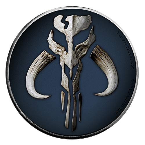 Power Coin Mandalorian Mythosaur Star Wars 1 Oz Moneda Plata 2$ Niue 2020