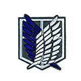 gerFogoo Cartoon Anime Attack On Titan Patch Cloth on Embroidered Sewing Badge for Clothes(Blue)