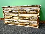 Midwest Log Furniture - Rustic Log Dresser - 6 Drawer
