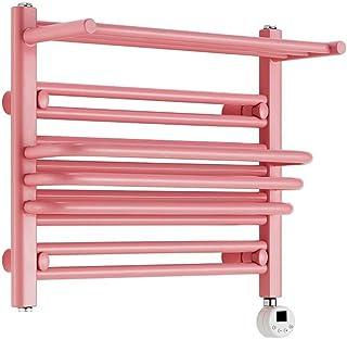 LHZHG Radiador Toallero Radiador Toallero Calefaccion de Pared para Calentado r de Toallas y Calentador de Espacio, Recto Plano, Acero bajo en Carbono (Color : Pink 60×50cm)