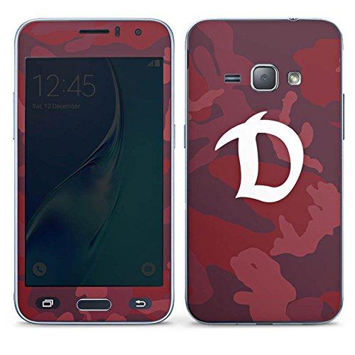 Samsung Galaxy J1 (2016) Folie Skin Sticker aus Vinyl-Folie Aufkleber Dynamo Dresden Camouflage Fanartikel