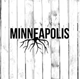 Minneapolis Wall Decals Decor - USA City State Roots Rooted Art Stickers Decorations - Vinyl Pictures for Office Studio Shop Home Kids Room Bedroom Door Window RT183