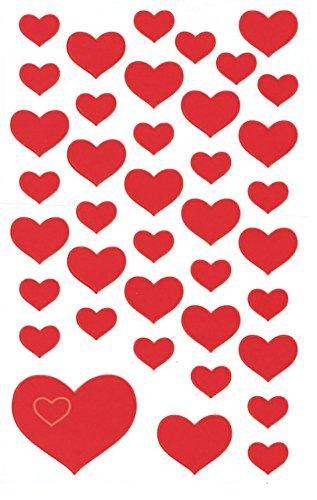 AVERY Zweckform 4371 Papier-Sticker Herzen 117 Aufkleber (selbstklebend, Glitzer, Gastgeschenke, Mitgebsel, Scrapbooking, Hochzeit, Bullet Journal, Liebe, Briefe, Poesiealbum, Freundschaftsbuch)