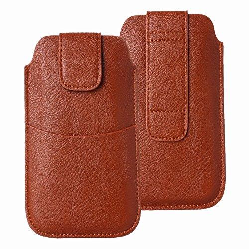 LORDWEY Funda 5.5 Inch Universal teléfono móvil cinturón Caso de la Bolsa, Cuero de la PU Caja de la Cartera de la Cintura Smartphone Bolsa con Hebilla Lanzamiento Rápido para Teléfono