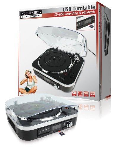 König HAV-TT25USB platenspeler met luidsprekers (SD-kaartsleuf, USB 2.0)