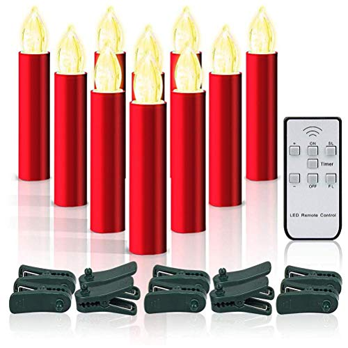10Pcs Realistic Dance Flickering LED Tea Night Lights Remote Control Battery Operated Flameless Candle Birthday Holiday Decoration for Wedding, Party