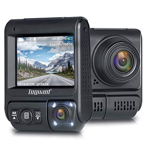 TOGUARD Uber Dual Dash Cam Infrared Night Vision Car Driving Recorder FHD Dual 1920x1080P Front and...
