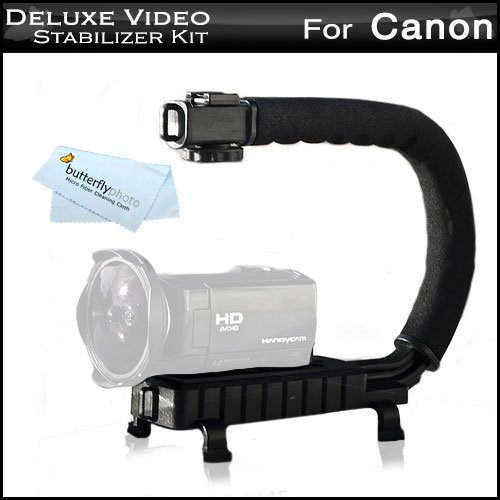 Butterfly Professional Camera/Camcorder Action Stabilizing Handle for Canon VIXIA HF R700, HF R72, HF R70, Canon VIXIA HF R800 A KIT, HF R82, HF R80, HF G40, HF G30, HF G20 HD Camcorder