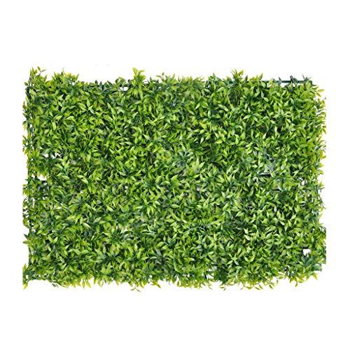PING- Künstliche Grün Buchsbaum Hecke Panels, Innen- Und Außenbereich UV-beständige Wanddekoration Mit Künstlichem Blatthintergrund Gefälschte Heckenpflanze 60 × 40 cm/Stück (Color : 16pack)